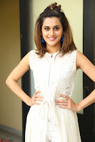 Taapsee Pannu in cream Sleeveless Kurti and Leggings at interview about Anando hma ~  Exclusive Celebrities Galleries 056.JPG