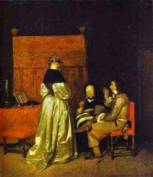 A Admoestação Paternal - Gerard Terborch ~ Pintor Barroco ~ Holandês