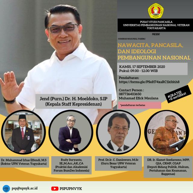 Pusat Studi Pancasila UPNVY Dukung Pengesahan RUU BPIP