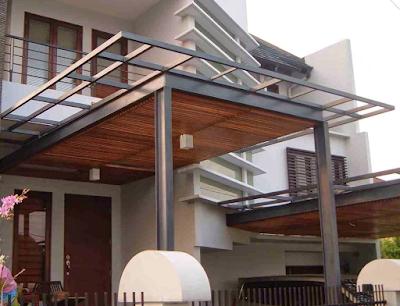 Kanopi Gantung Baja Ringan 68 Model Untuk Teras Depan Rumah ...