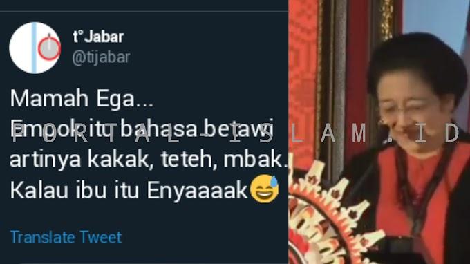 NGAKAK! Kepleset Sebut Mpok = Ibu, Megawati Disentil Warganet