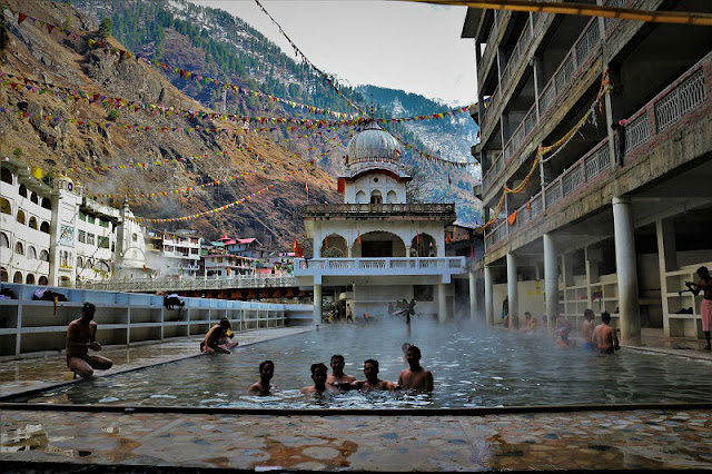 Manikaran's hot water bath