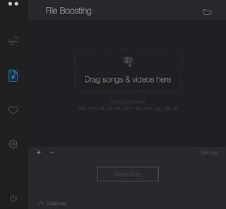 Boom Dosya Ses Arttırma Ekranı