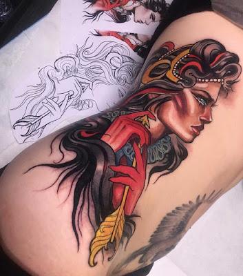 Neo-traditional Rib Tattoo
