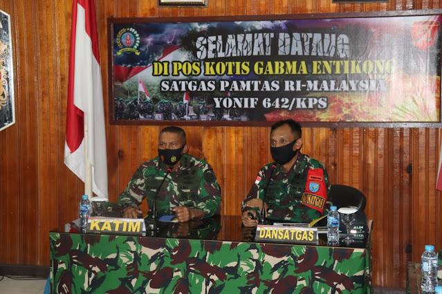 TIM STER TNI TINJAU GIAT BINTER SATGAS YONIF 642/KPS