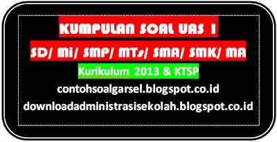 Kumpulan Soal UAS 1 SD/ Mi/ SMP/ MTs/ SMA/ SMK/ MA 2016/ 2017