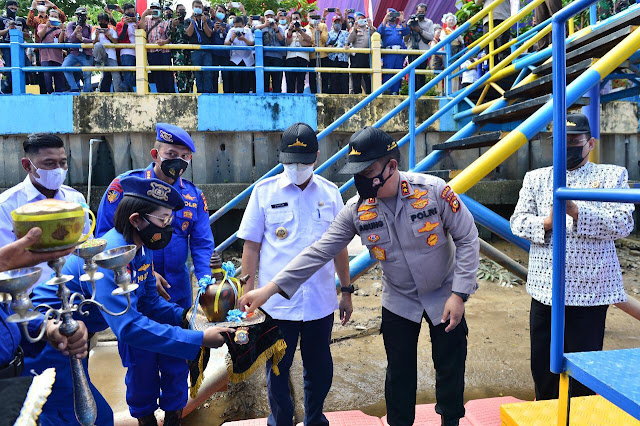Kapolda Resmikan Kapal Pemburu (KPC) Lancang Kuning IV-2006 Dit Polair Polda Riau