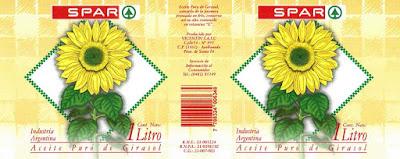 diseño gráfico de etiqueta de aceite