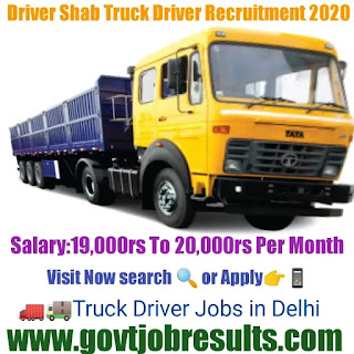 Driver Shaab Container Truck Driver Recruitment 2020-21