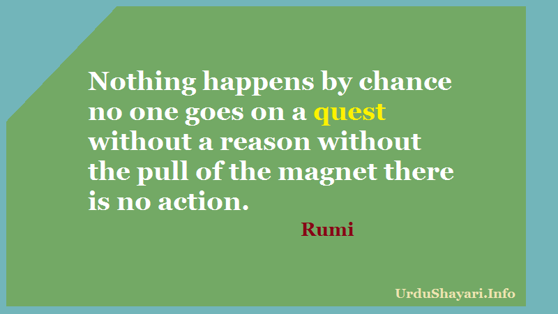 Pull of Love , Ultimate love, Rumi on Action, quest and reason