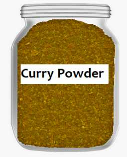 Curry powder in bottle