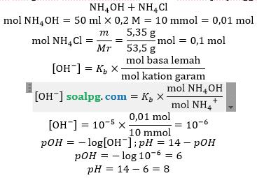 menghitung ph larutan penyangga basa