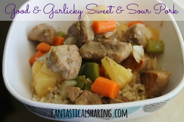 Good & Garlicky Sweet & Sour Pork | This sweet and sour stir fry is an easy, but outrageously delicious pork dish! #recipe #pork #stirfry #sweetandsour