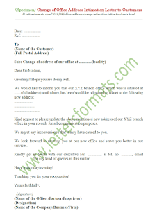 sample business change of address letter to clients