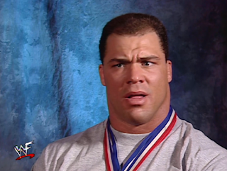 WWE / WWF - No Mercy 2000 - Kurt Angle edited together a fake interview with The Rock