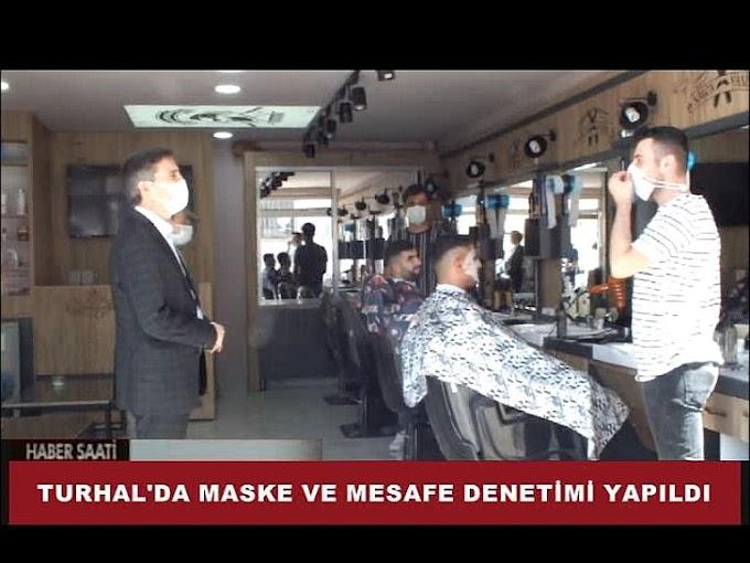 TURHAL'DA MASKE VE MESAFE DENETİMİ YAPILDI.