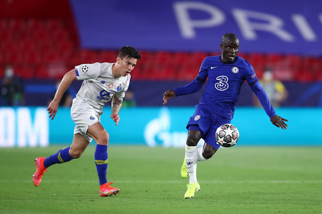 Chelsea midfielder Ngolo Kante during Champions League quater-finals tie against Porto
