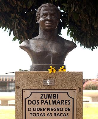 Busto do Zumbi dos Palmares localizado em Brasilia-DF.