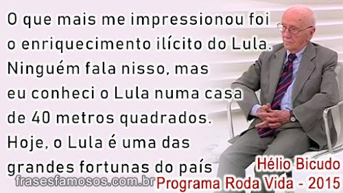 Frases de Hélio Bicudo no Programa Roda Vida