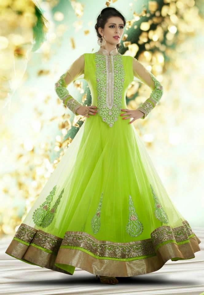 Utsav Abaya Style Anarkali Frocks 2014 New Net Anarkali