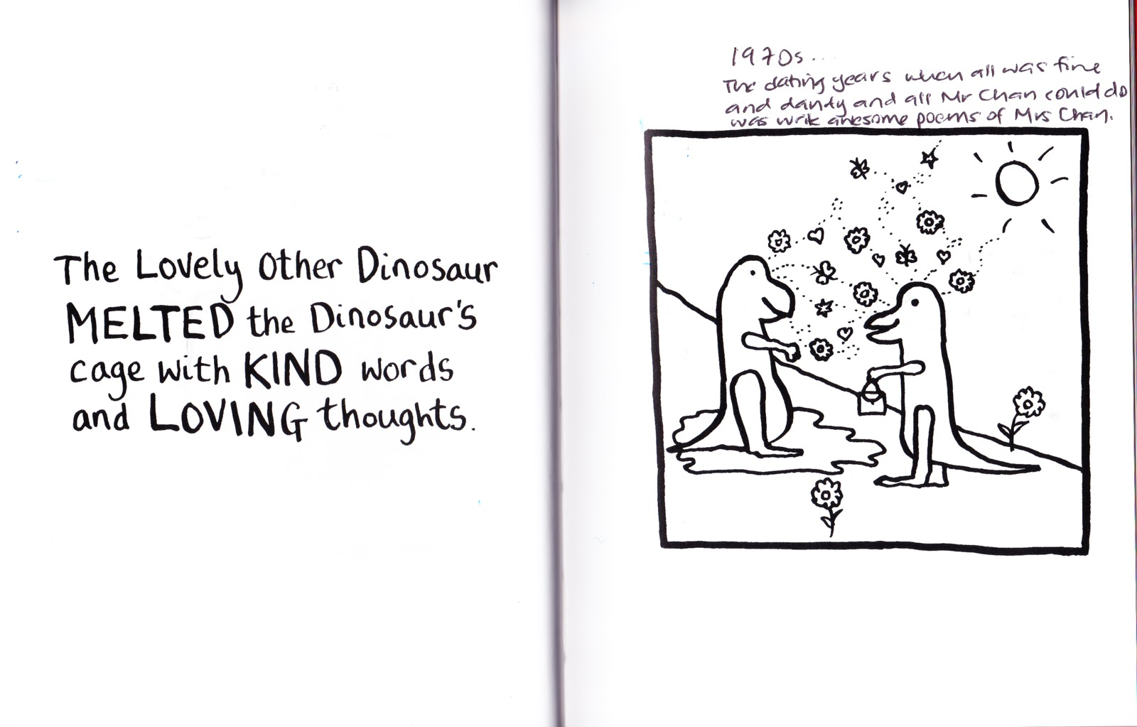 The Dinosaurs Go One Step Further They Melt Each Others Heart With Kind Words And Loving Thoughts