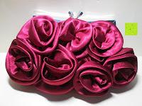 Vorderseite: Sumolux Elegante Handtasche Tasche Partytasche Abendtasche Tasche für Frauen Tasche für Damen Weinrot