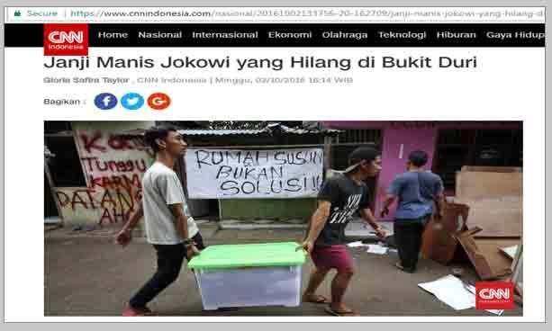 Janji Di Bukit Duri, Jokowi-Ahok Yang BerJanji, Anies-Sandi Yang Melunasi