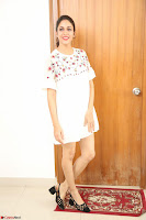 Lavanya Tripathi in Summer Style Spicy Short White Dress at her Interview  Exclusive 309.JPG