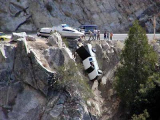 car over cliff