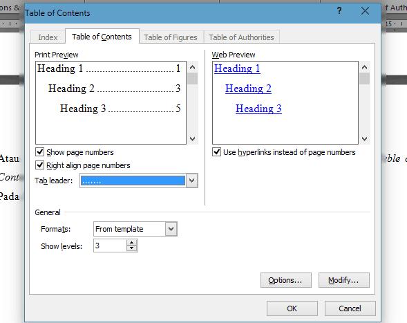 Cara Mudah dan Cepat Membuat Daftar Isi Dengan Microsoft Word