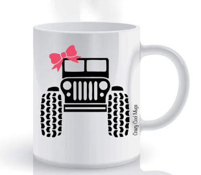 Jeep Girl Coffee Cup