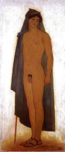 Rudolph Karl Alexander Schneider: Giovane con mantello blu