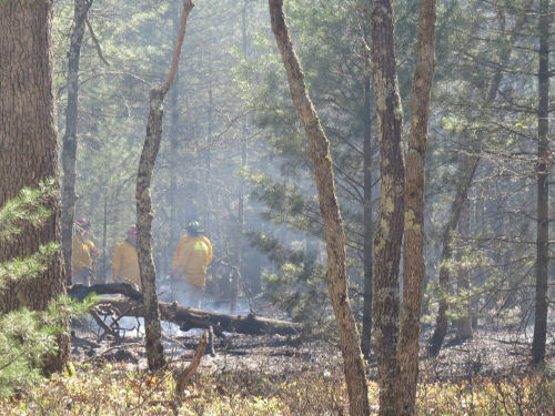 fire on North Country Trail 2017