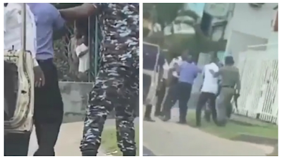 VIO Officers Clash With Police Officers Over Who Should Inspect A Car In Lagos