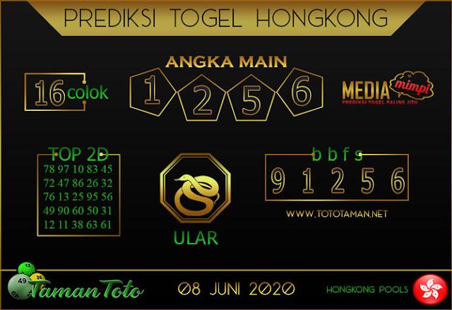 Prediksi Togel HONGKONG TAMAN TOTO 08 JUNI 2020