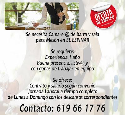 Oferta de empleo en El Espinar