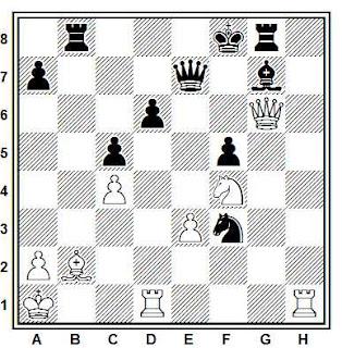 Problema ejercicio de ajedrez número 768: Larsen - Kavalek (Lugano, 1968)
