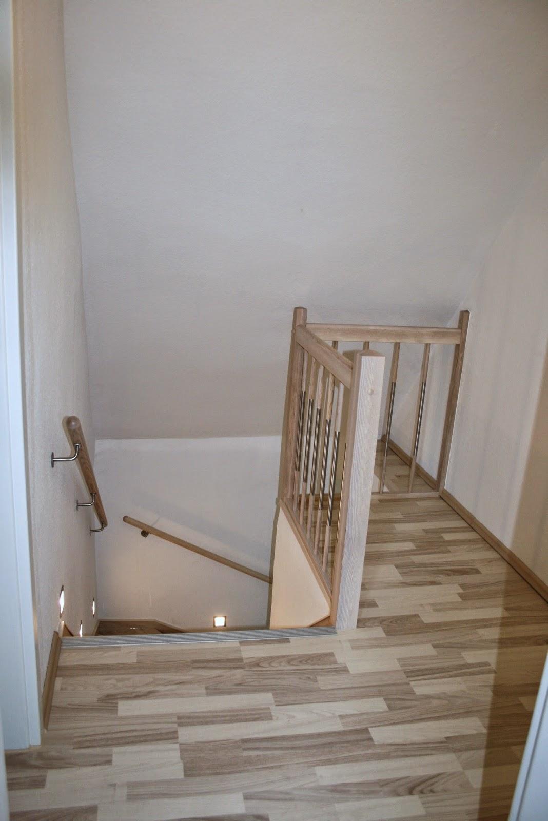 Treppenrenovierung - Oberes Podest am Treppenausgang