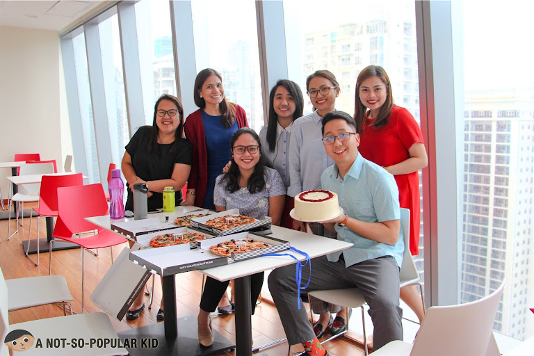 Renz Cheng celebrating birthday in BGC Office