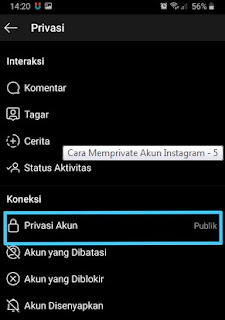 Merivate akun instagram