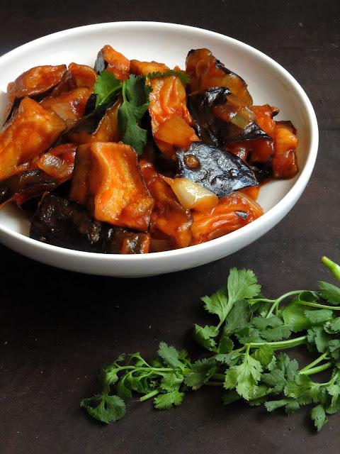 Eggplant Manchurian, Indo Chinese Eggplant Manchurian