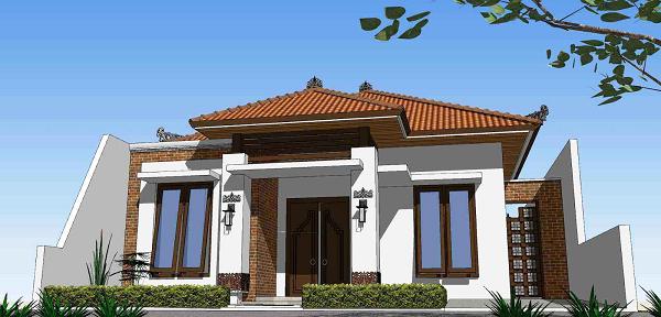 Contoh Desain Rumah Klasik Modern 1 Lantai - Info Paguntaka
