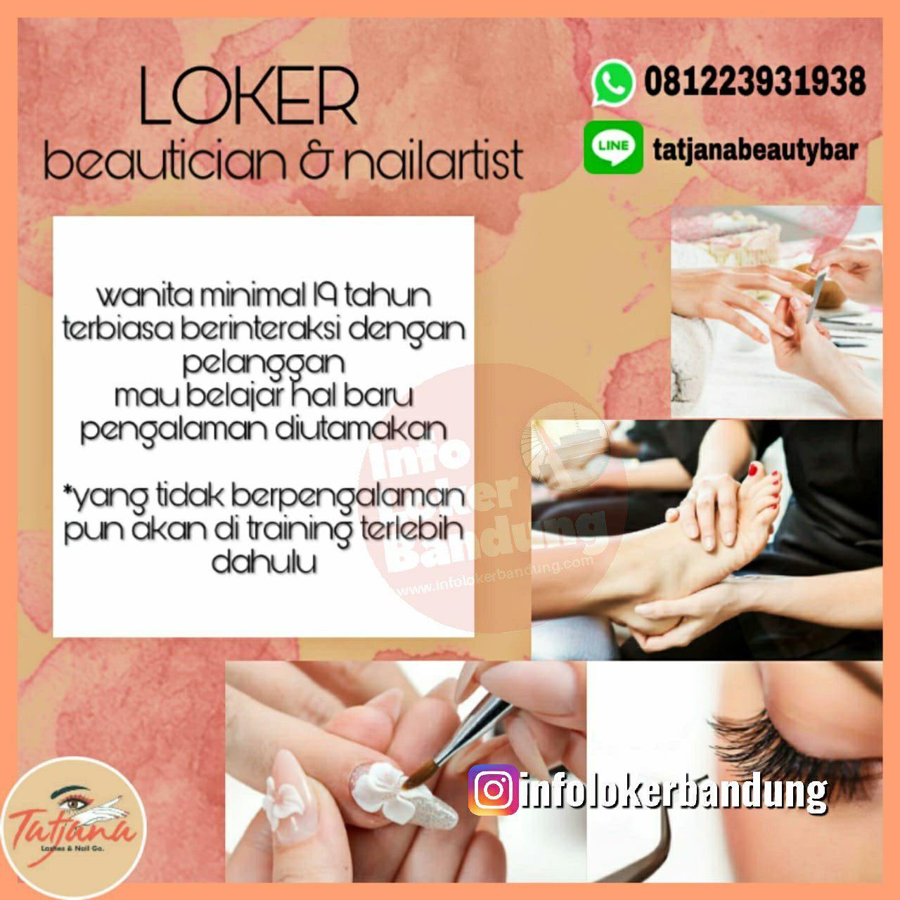 Lowongan Kerja Tatjana Beauty Bar Bandung November 2019