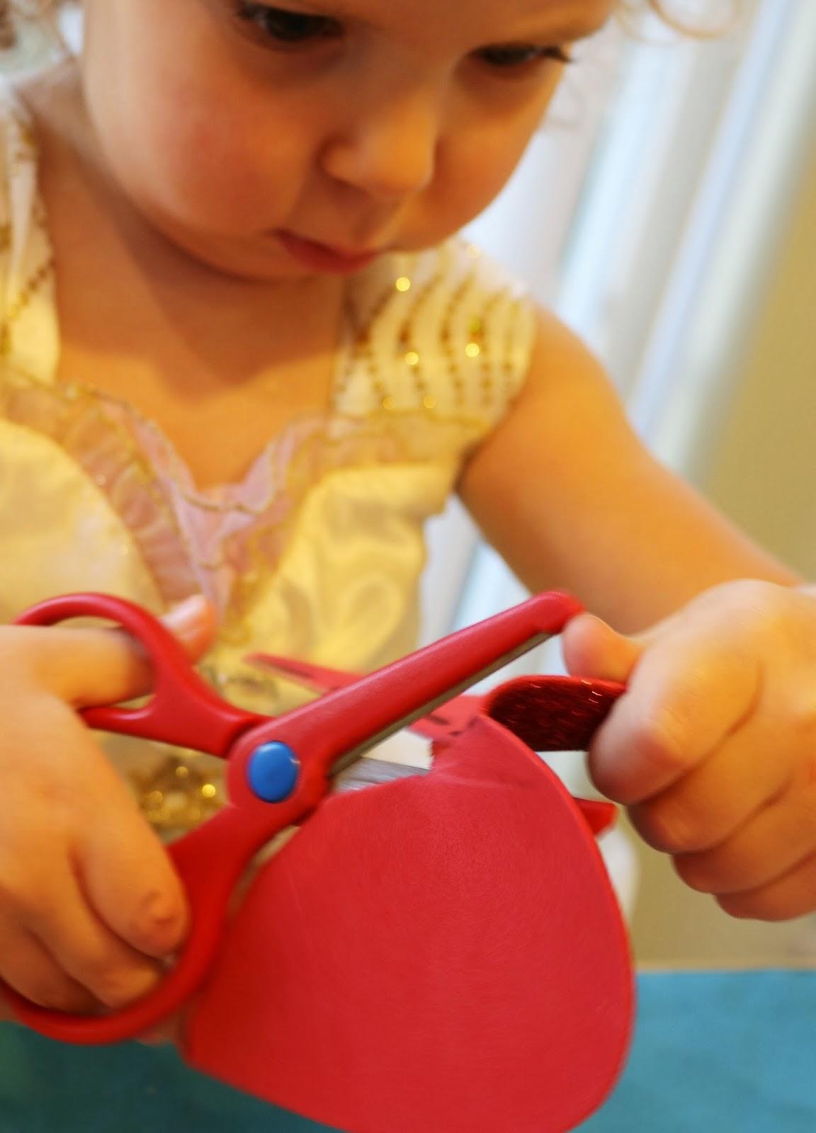 Broken Hearts Valentines Scissor Skills Practice