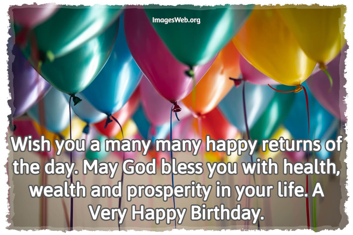 Happy Birthday Wishes for Anyone