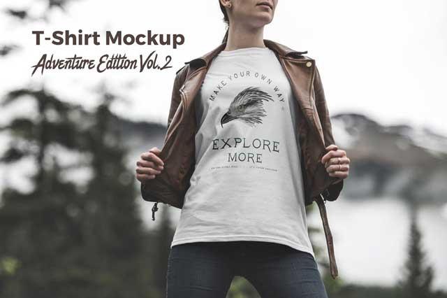 T-Shirt Mockup Adventure Edition Vol. 2