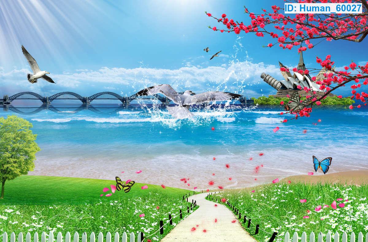 Tranh Dán Tường Phong Cảnh Biển Đẹp