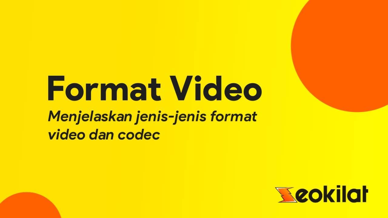 Jenis-jenis format video