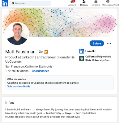 Bien que LinkedIn n'ait pas officiellement annoncé les détails de Marketplaces, Faustman affiche publiquement sur son propre profil qu'il travaille sur le projet depuis Octobre 2019.
