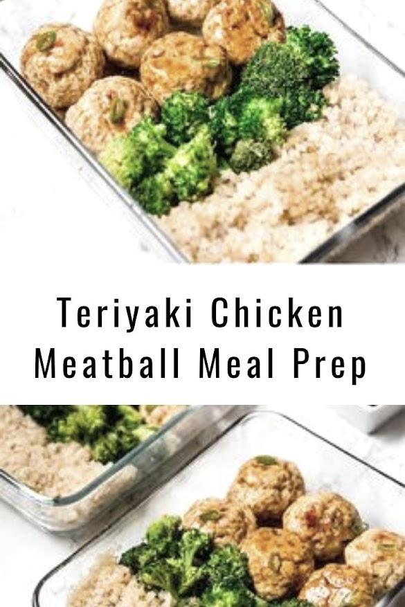 Teriyaki Chicken Meatball Meal Prep